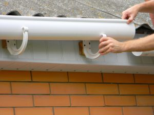 installing gutters on roof